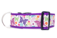 Floral dog collar for large dogs