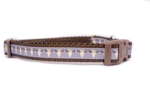 Boho-chic dog collar for small dogs