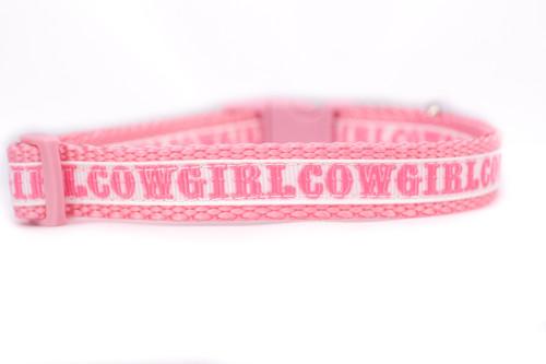 cowgirl dog collar