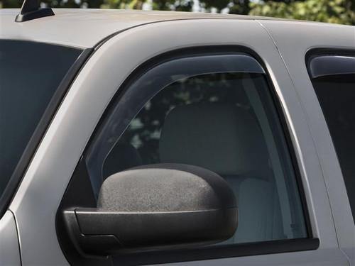 weathertech side window deflectors for 2007-2013 chevrolet silverado  gmc sierra