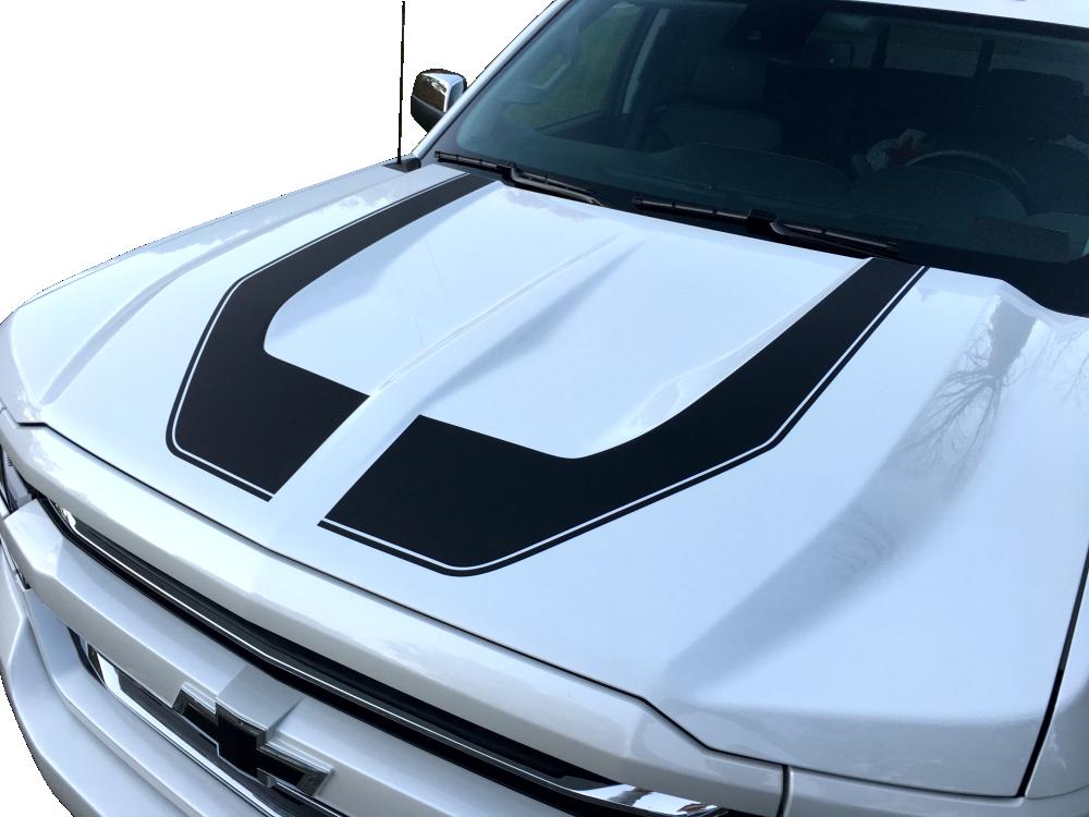 Rally Edition Silverado >> Rally Edition Stripes for 2016 - 2017 Chevrolet Silverado ...