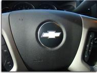 Steering Wheel Bowtie Overlay Decal for 07-13 Silverado, Avalanche, 2007-2014 Suburban, Tahoe