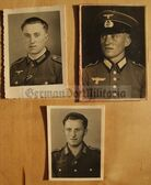 wpc077 - Wehrmacht soldier three different studio portrait photos with medal ribbons