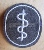 om592 - NVA Army Medic qualification sleeve patch - for Fähnrich ranks only with white border