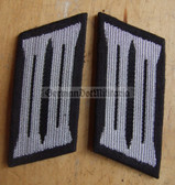sbbs017 - pair of NVA Pioniere Engineers enlisted EM Collar Tabs - Dress Uniform - colour coded older type