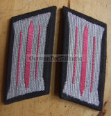 sbbs018 - pair of NVA Panzer Tanks enlisted EM Collar Tabs - Dress Uniform - colour coded older type