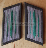 sbbs021 - pair of Grenztruppen GT Border Guards enlisted EM Collar Tabs - Dress Uniform - colour coded older type