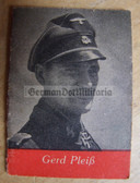 ob501 - Waffen-SS c1943 Knights Cross Ritterkreuz Winner Gerd Pleiss WHW Winterhilfswerk book