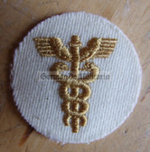 om675 - 7 - Volksmarine Medical Corps Sleeve Patch for Officers - white
