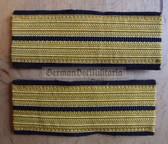 om681 - Volksmarine - Oberleutnant Officer Sleeve rank bands - pair