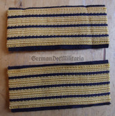 om678 - 2 - Volksmarine - Staboberfaehnrich Sleeve rank bands stripes - pair
