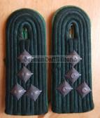 sbvpfd024 - HAUPTMANN DER VP - Volkspolizei - Police - subdued field uniform pair of shoulder boards - Felddienst
