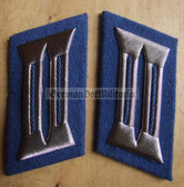 sbbs030 - Transportpolizei TraPo Transport Police non-officer Collar Tabs - Dress Uniform