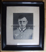 wpc003 - large framed portrait photo - Wehrmacht Medical Orderly - kia in Russia in October 1941 - named Herbert Schumann