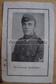 opc400 - Obergefreiter Josef Adam - died in Austria in June 1944 - death card - several awards mentioned