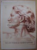 opc417 - c1942 WOLFGANG WILLRICH postcard - DEUTSCHE FRAU AUS NORDSCHLESWIG - DEUTSCHER BLUTADEL SERIES