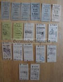 od017 - 39 - East German S-Bahn and railway tickets as pocket fillers for your NVA uniforms
