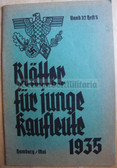 ssb059 - BLAETTER FUER JUNGE KAUFLEUTE - HJ Hitler Youth publication for young businessmen