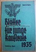 ssb060 - BLAETTER FUER JUNGE KAUFLEUTE - HJ Hitler Youth publication for young businessmen