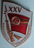 Xom945 - original MfS Stasi Staatssicherheit 25 years anniversary badge - Erich Mielke