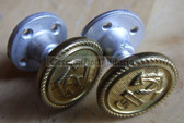 sbbs005 - 3 - Pair of screw together shoulder board buttons for Volksmarine or Wasserschutzpolizei Uniforms Waterways Police