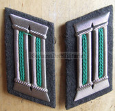 sbbs009 - pair of Grenztruppen Officer Collar Tabs - Dress Uniform
