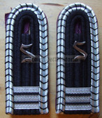 Xsbbf017 - OFFIZIERSSCHUELER 3RD YEAR - Berufsfeuerwehr Professional Fire Service - pair of shoulder boards