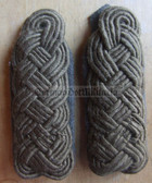 sbfd034 - 4 - FELDDIENST BLANK STAFF OFFICER - all branches of the army and border guards - pair of shoulder boards