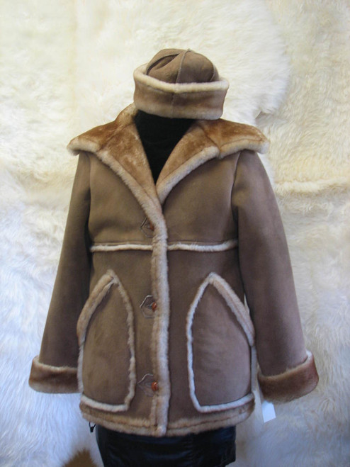 Sheepskin Marlboro Coat Ladies front