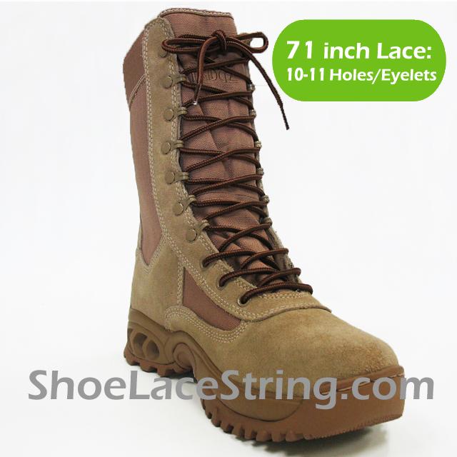 71 inch Dark Beige Brown round boots laces
