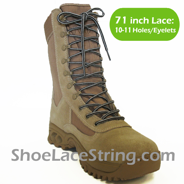 71 inch Light Gray Dark Brown round boots laces