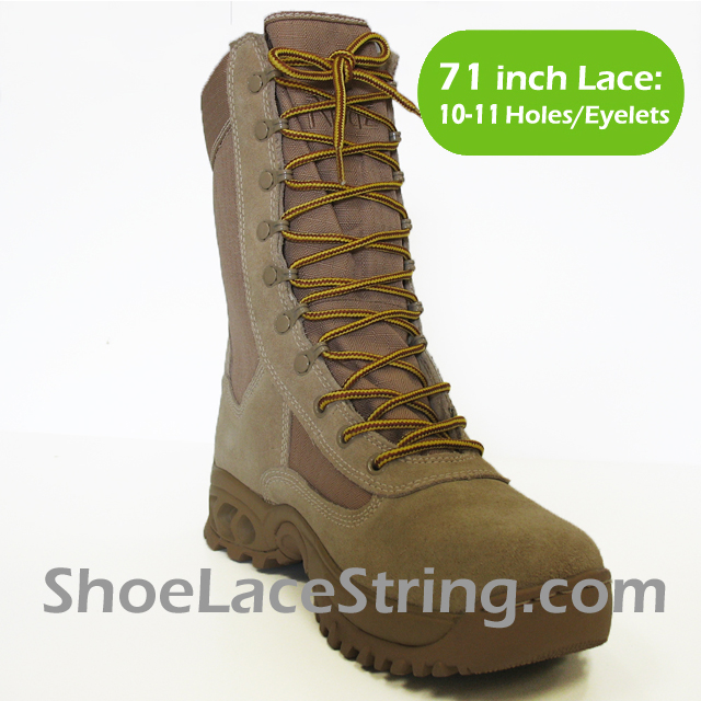 71 inch Yellow Tan round boots laces