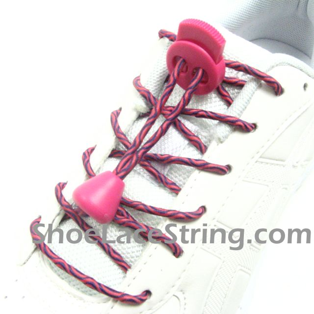 hot pink lock shoe laces