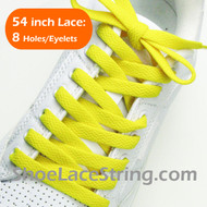 Yellow 54INCH Shoe Laces Yellow Shoe Strings 2Pairs