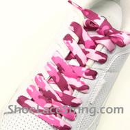 Pink Camo Shoe Laces Pink Camouflage Shoe Strings 2Pairs