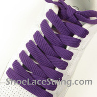 Purple 54IN Fat Laces Purple Flat Wide/Fat Shoe Strings 2Pairs
