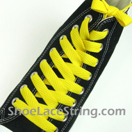 Yellow Fat 54IN Laces Yellow Flat Wide/Fat Shoe Strings 2Pairs