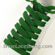Green Fat 54IN Laces Green Flat Wide/Fat Shoe Strings 2Pairs