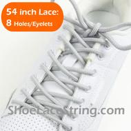 "Light Gray 54"" Round Shoe Lace Light Grey Round Shoe String 2PRs"