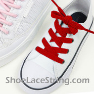 Kids Red 27INCH ShoeLaces Childs Red ShoeStrings 2Pairs