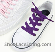 Kids Purple 27INCH ShoeLaces Childs Purple ShoeStrings 2Pairs
