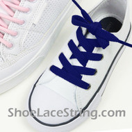 Kids Blue 27INCH ShoeLaces Childs Blue ShoeStrings 2Pairs