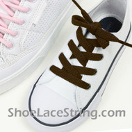 Kids Brown 27INCH ShoeLaces Childs Brown ShoeStrings 2Pairs