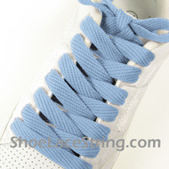 Light Sky Blue 54IN Fat Laces Light Blue Wide Shoe String 2Pairs