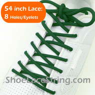 "Green 54INCH Round Shoe Laces Green Round 54"" Shoe Strings 2PRs"