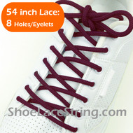 "Maroon 54IN Round Shoe Laces Maroon Round 54"" Shoe Strings 2PRs"