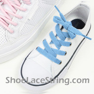 Kids Light Blue 27INCH Shoe Laces Childs Shoe Strings 2Pairs