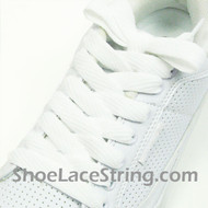 White 54INCH Fat Laces White Flat Wide/Fat Shoe Strings 2Pairs