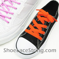 Kids Neon Orange 27INCH ShoeLaces Neon Orange ShoeStrings 2Pairs
