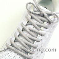 Light Gray 54IN Oval Shoe Lace Light Grey Oval Shoe String 2PR